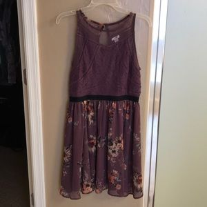 Mauve Foral Baby Doll Dress. Size M